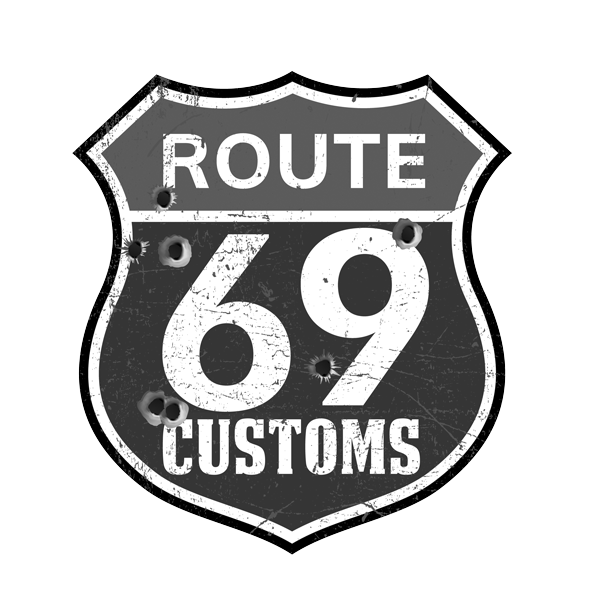 route 69 customs logo b/w