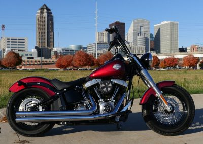 red softail deluxe