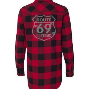 Womens Red Black Flannel
